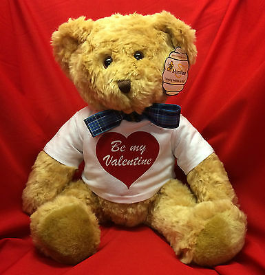 Large Personalized Message Valentines Teddy Bear Love Heart Anniversary Wedding