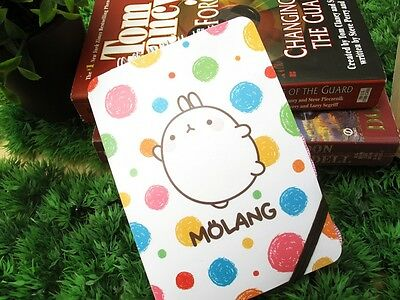 MOLANG Lovely Cute rabbit Bunny  Necklace Notebook - White bubble