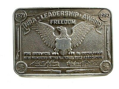 NRA Leadership Award Freedom Belt Buckle 10312013