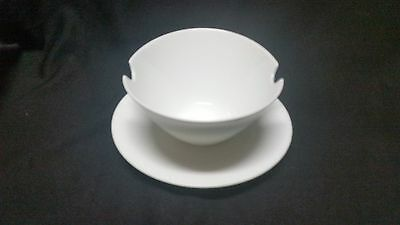 Rosenthal CLASSIC MODERN WHITE - Gravy Boat w/attached underplate