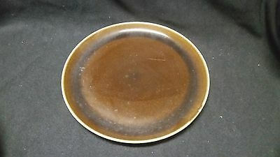 Steubenville Russel Wright AMERICAN MODERN BLACK CHUTNEY -Salad  Plate