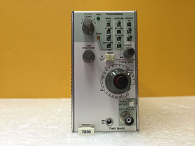 Tektronix 7B10, 1 GHz, 50 Ohm Trigger Input, 30 ps Jitter, Time Base Module