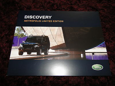 Land Rover Discovery 2 Metropolis Limited Edition Brochure 2003