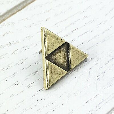 Bronze Triangle Pin, lapel pin tie tac inspired by triforce zelda
