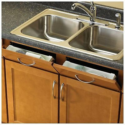 Kitchen Sink Front Tray Drawer Cabinet Tip Out Storage Organizer Hinges Hardware