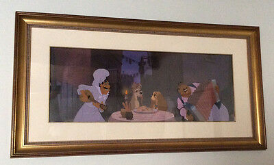 """Lady and the Tramp """"Prelude to a Kiss"""" LE Cel 1996 Orig. Disney Frame. #8 of 350"""