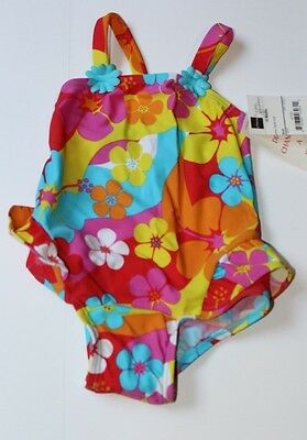 Infant girl 18 months Okie Dokie swimsuit Floral NWT