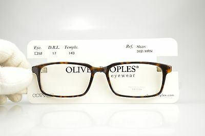 Oliver Peoples SHAW 362 HRN New Authentic EYEGLASSES FRAME Japan 52-17-143
