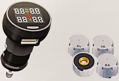 Tire Pressure Monitor System with Wireless and External Sensor - TP1002
