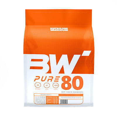 2kg PURE WHEY PROTEIN POWDER - 100% Pure No Fillers! / 20+ Flavours / 80 Srvs!