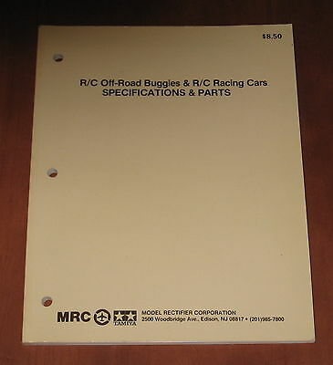Tamiya MRC R/C Off-Road Buggies, R/C Racing Cars Specifications & Parts Manual