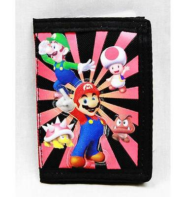 NWT Super Mario Bros (Brothers) Trifold Wallet Newest Style Licensed by Nintendo