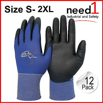 Ninja Lite Safety Glove 12 Pack S-2Xl 18 Guage Nylon Shell Htp Coating