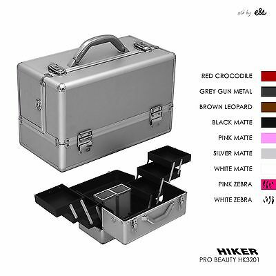 Professional Makeup Beauty Organizer Train Case, 6 Tray 2 Brush Holder by Hiker