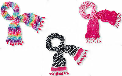 "The Children's Place Youth - Girls Rainbow Leopard Scarf With Fringe 55""x16"" NWT"