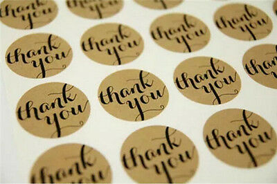 "Hot 10 Sheet  DIY Round ""Thank you""Cute Seals Kraft Labels Craft Paper Stickers"