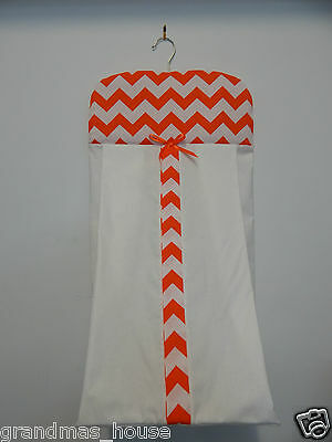 Orange Chevron Nappy Diaper Stacker 100% Cotton  **Available in Other Colours**