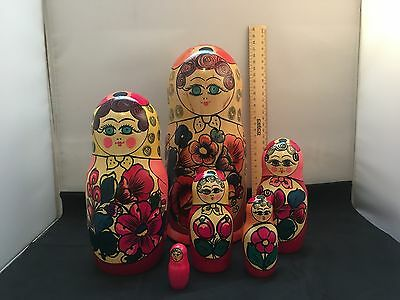 Russian Matryoshka Babushka Very Big Nesting Dolls 6 pcs. Set