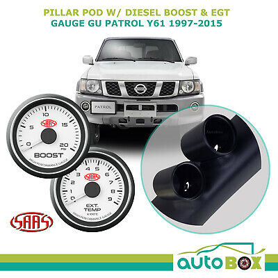 SAAS PIllar Pod suits Nissan GU Patrol Y61 1997-2015 with Boost and EGT Gauges