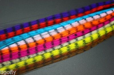 12Colors Synthetic Fibre Zebra strips Veins Pseudo Hair Fiber Fly Tying Material