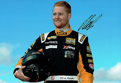 Josh COOK SIGNED Portrait Photo AFTAL Autograph COA British Touring Car Driver