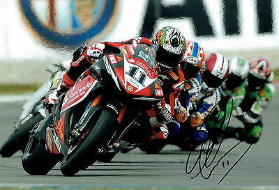 Troy CORSER SIGNED Autograph Race Photo AFTAL COA WSB World Champion Yamaha