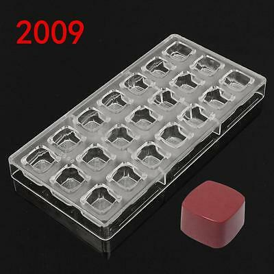 New 3D Cups Squares Shape Polycarbonate Chocolate Mold Jelly Candy PC Mould DIY