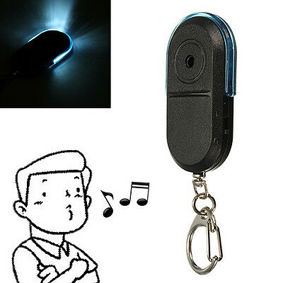 Wireless Whistle Voice Control Keychains Led Anti-Lost Key Finder Alarm Lovely