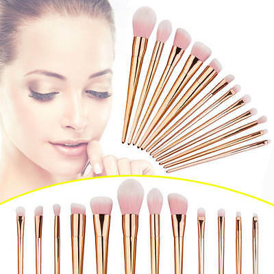 12pcs Metal Scattered Blusher Eye Shadow Golden Silver Makeup Brushes Reliable
