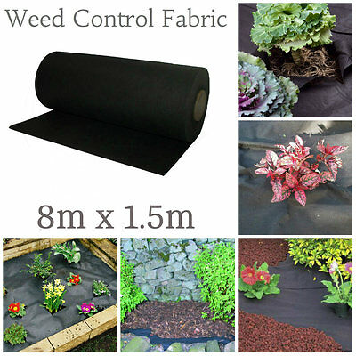 large weed membrane 8m x 1.5m sheet cover garden fabric