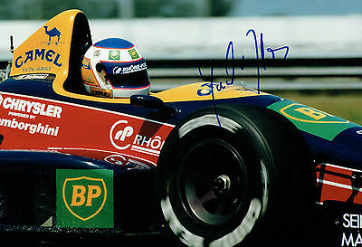 Yannick DALMAS SIGNED 12x8 Photo AFTAL Autograph COA Grand Prix Driver