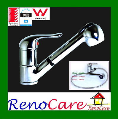 ESPRIT Pull Out Pullout Brass with Chrome Finish Kitchen Flick Mixer Tap RC-2207