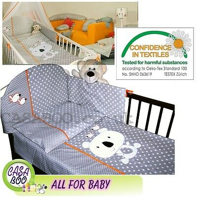 LUXURY EMBROIDERED 2-6el BABY BEDDING SET 120x90/135x100 for COT BED Child COALA