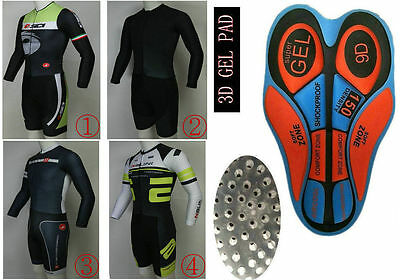 Hot Racing Cycling Time trial Coverall Long Sleeve Skinsuit Jumpsuit