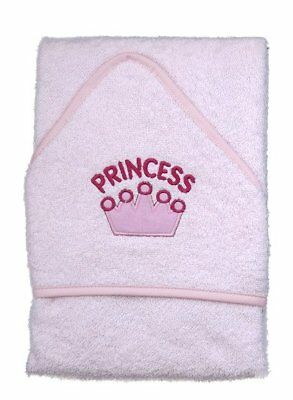 **NEW** Beautiful Pink Princess Design Infant / Baby Hooded Towel - Bath Robe