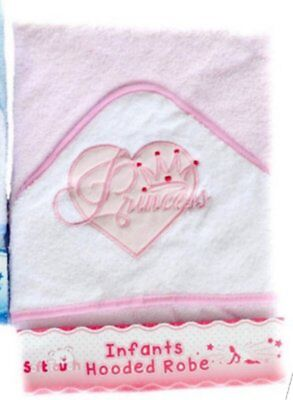 **NEW** Beautiful Embroidered Bunny Rabbit Baby Hooded Towel - Bath Robe  (Blue)