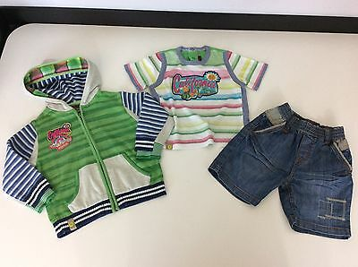 Catimini Boys 3 Piece Outfit, Set, Age 2, 86cm, Hoodie, Shorts, T Shirt Vgc