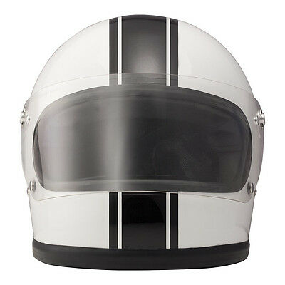DMD Racing Full Face Rocket White & Black Helmet In Medium