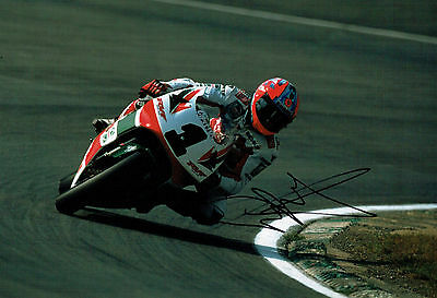 Carl FOGARTY SIGNED Autograph 12x8 Photo AFTAL COA Castrol HONDA Rider