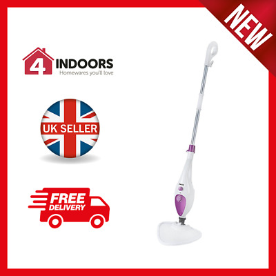 Pifco PS012N 12-in-1 Multi-Function Steam Mop -1500w - White - Brand New