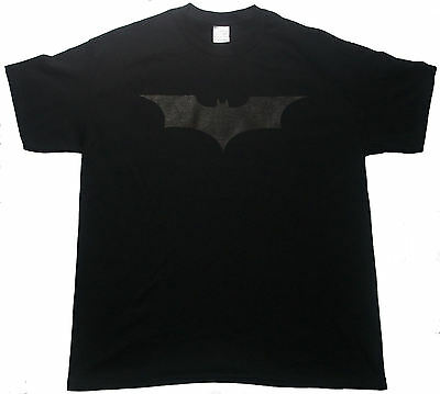Black on black BATMAN tee t-shirt the dark knight rises