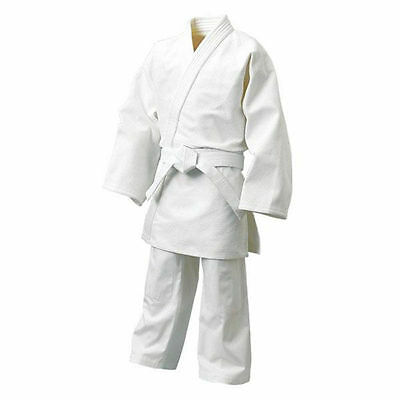 Dojo KIDS JUDO Suit GI 100% Cotton Free White Belt Boys Girls Child Judo Uniform
