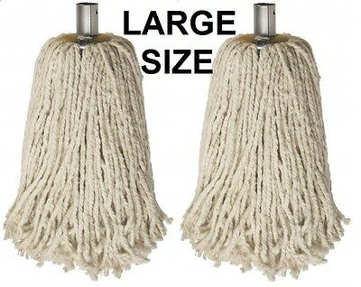 Large size cotton mop heads with galvanized socket Great price , many pack sizes