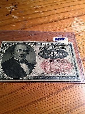 Fractional Currency 25 Cent Note 1874