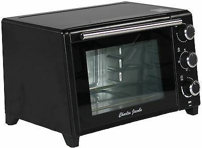 23L 1500W Mini OVEN and Grill Table Top in Black Compact Caravan Charles Jacobs