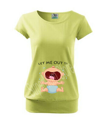 Maternity Pregnancy Funny T-shirt Top Baby Shower Peek A Boo Zip Peeking baby