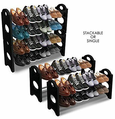 Sorbus® Shoe Rack Organizer Storage - Stackable and Detachable - Easy to - No 4