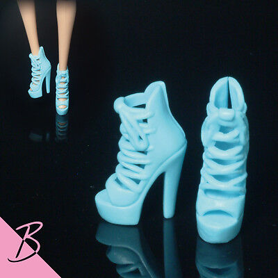 Barbie Shoes/Boots Blue Strappy Stiletto High Heels NEW #0401