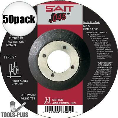 "Sait 50 Pk 50pk 5"" x .045"" x 7/8"" A60S Metal Cut-Off Wheel 22071 New"