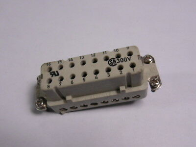 Generic Terminal Connector 16A 380V 16-Pos  USED